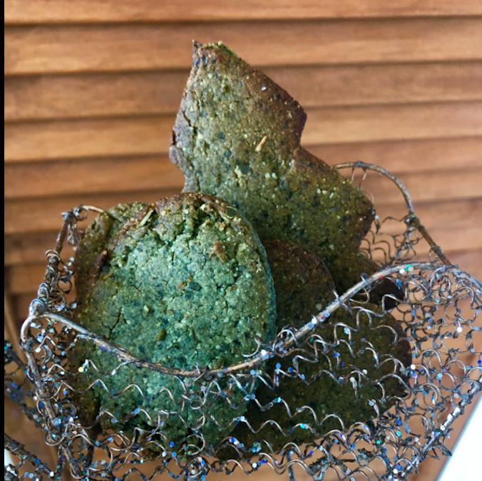 Wegańskie pierniki na zielono